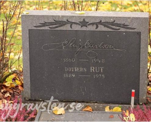 Exempel på gravsten med signatur