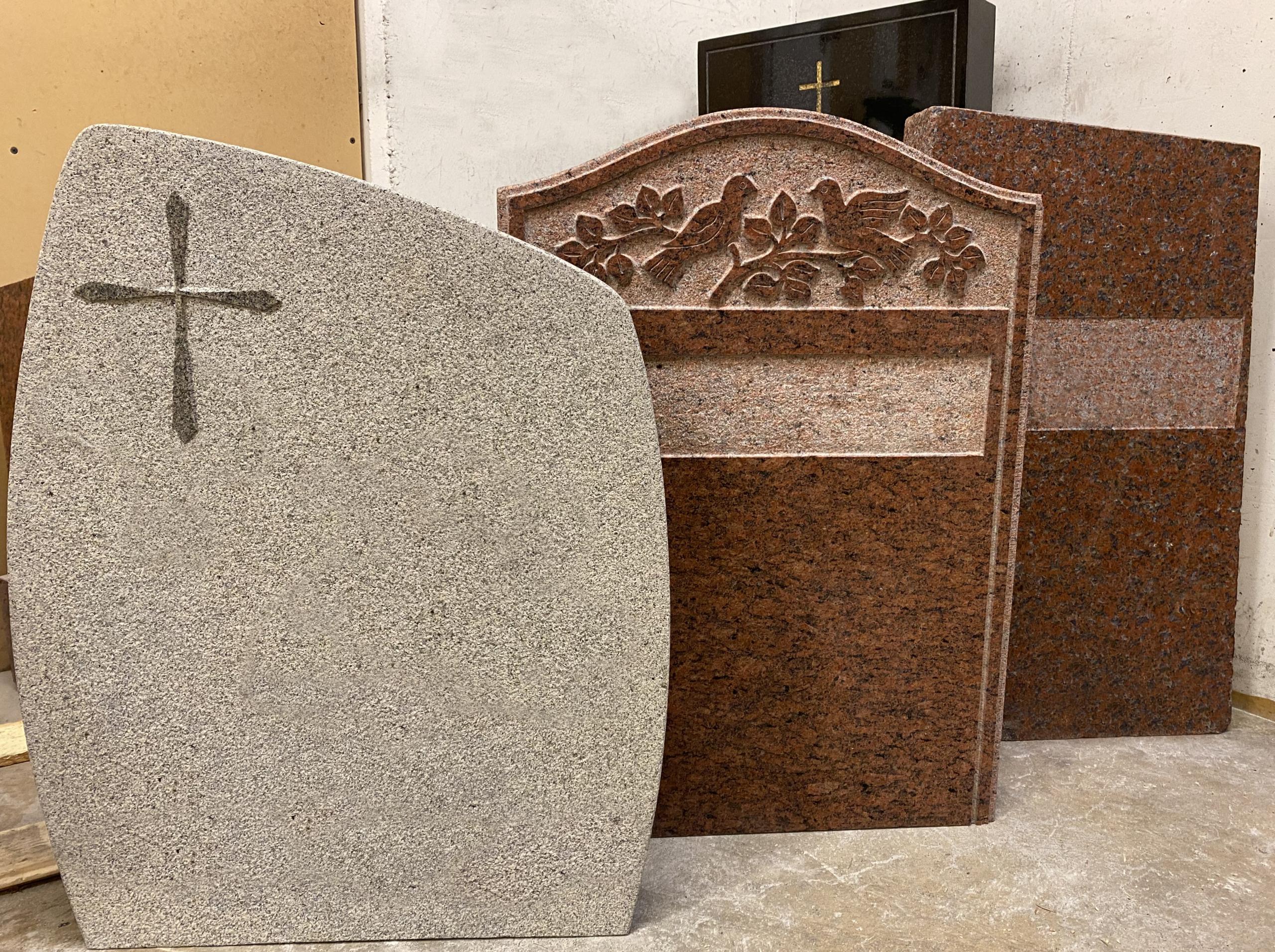 Modeller av gravstenar